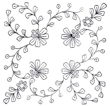 Ribbon embroidery flower instructions